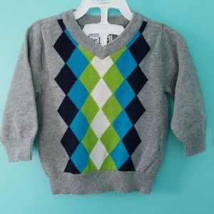 Infants golf V-neck sweater